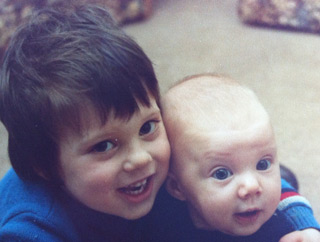 Alan and Katrina as children