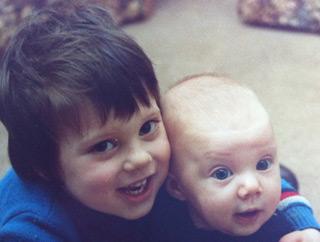 Alan and Katrina as children