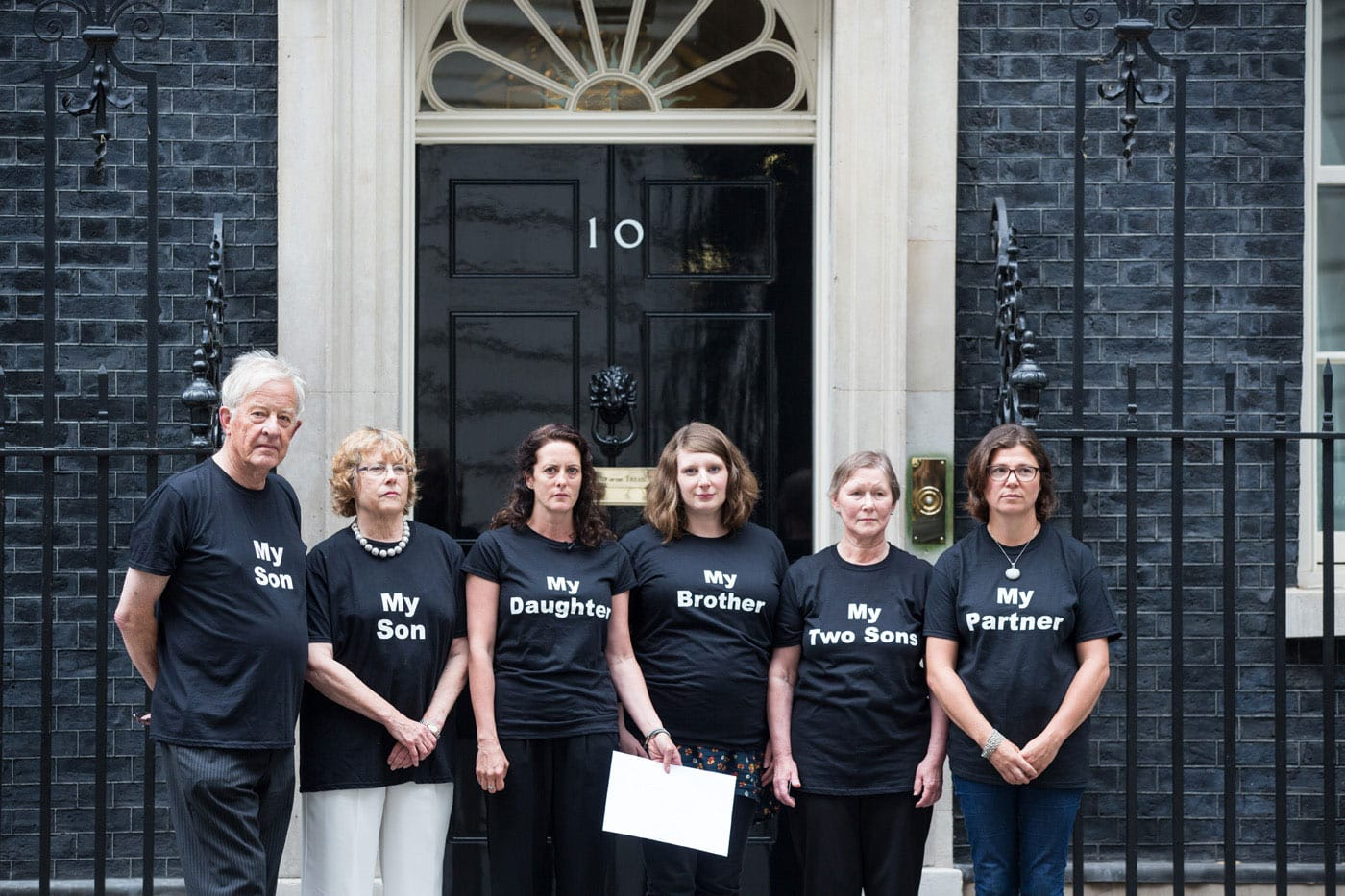Anyone's Child family members at Downing Street