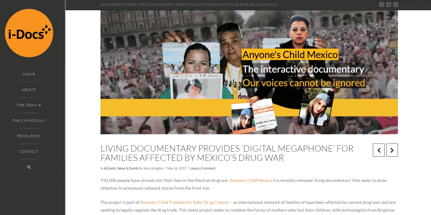 Anyone's Child Mexico interactive documentary