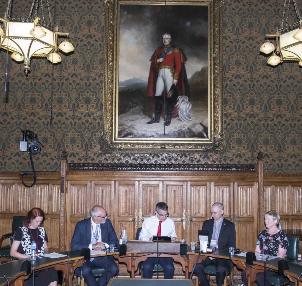 The panel (from left to right): Anne-Marie Cockburn, Crispin Blunt MP, Jeff Smith, MP, Neil Woods and Rosemary Humphries