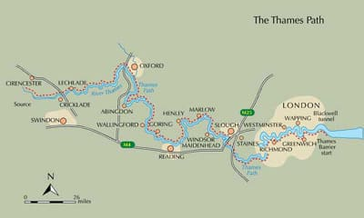 Thames Path Walk plan