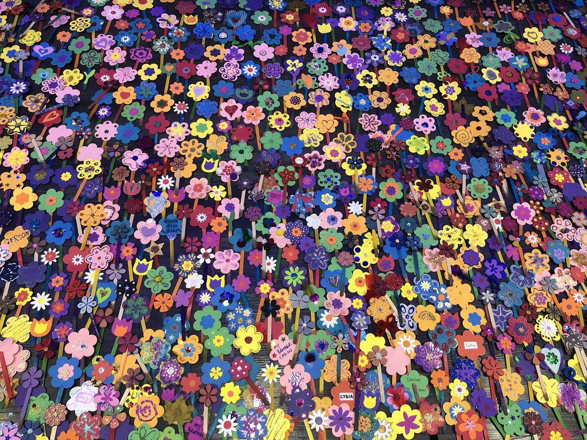 Flowers laid by Anyone's Child and the Scottish Recovery Consortium at the Glasgow Drug Summit to mark the 4,265 lives lost to drug overdoses in 2018